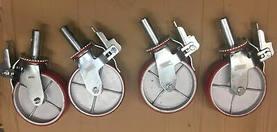 """Casters 4 pcs H D Scaffold 8"""" X 2"""" Polyurethane Caster Wheel for scaffolding"""
