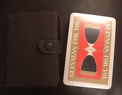 Rare Vintage APCC sealed Guinness For You Playing Cards & Case