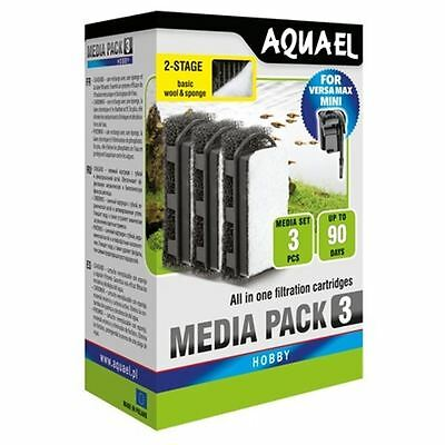 Aquael Versamax Mini Filter Cartridge Foam x3 Aquarium Media *GENUINE*