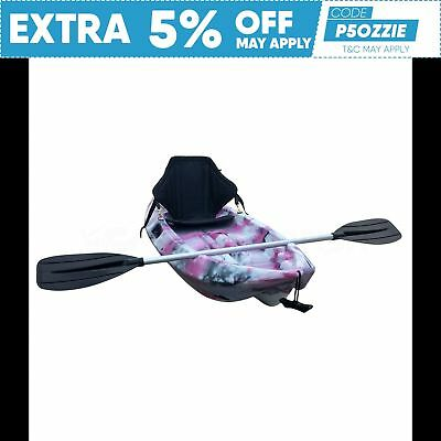 1.8M 8Kg Kids Kayak 2017 Sit On Top Seat Paddle Package Sydney Pink Camo