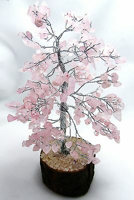 Rose Quartz Stone Reiki Healing Spiritual Crystal Tree Feng Shui Home Décor