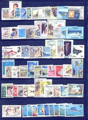 Mauritius 100 different stamps collection lot FU
