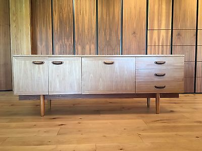 Mid Century Teak Oak Sideboard Drawers 60s 70s Veneer Retro Like G Plan