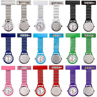 Chain Brooch Fob Nurse Watch Stainless Pendant Clip-On Pocket Quartz Recommended
