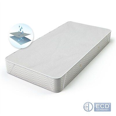 COTTON MATTRESS PROTECTOR COVER 90x200cm WATERPROOF BREATHABLE 4 TAGS WASHABLE