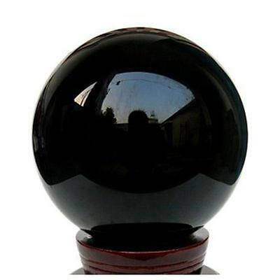 Newest Creative 80mm Black Obsidian Sphere Large Crystal Ball Healing Stone OC