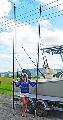 outrigger poles carbon fibre two peace 6  meters long with line guilds,spears