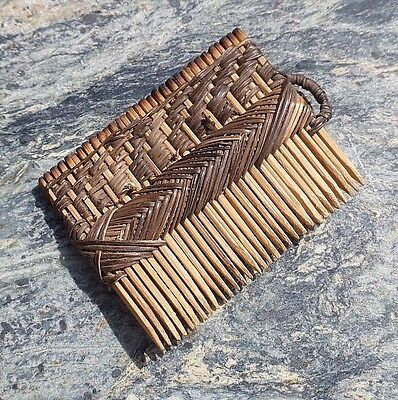 Fine Old Miniature African Tribal Comb Possibly South African Zulu Origin No Axe