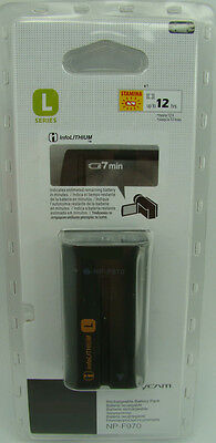 Battery Np-F970  6300Mah For Sony Dcr-Vx2100 Hdr-Fx1 Shipped By Registered Mail