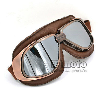 Helmet Goggles Aviator Glasses Eyewear Motorcycle Retro Vintage for Harley Adult
