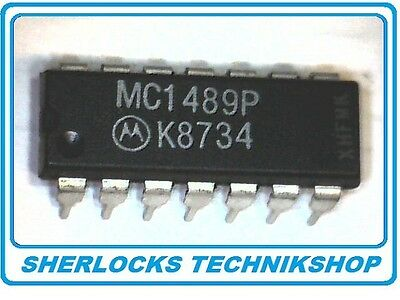 MC1489P QUAD LINE RECEIVER 4x RS232-Treiber DIP14