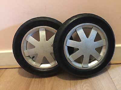 Quinny Buzz  Back Rear Wheels with tyre- Silver