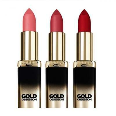 L'Oreal Color Riche Gold Obsession Lipstick - Choose Your Shade