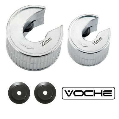 Voche® 15Mm 22Mm Pro Metal Pipe Cutters + Spare Wheels Slicers Pipeslice Copper