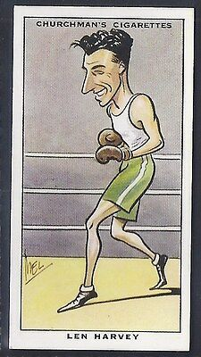 Churchman-Sporting Celebrities-#13- Boxing - Len Harvey