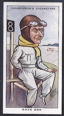 Churchman-Sporting Celebrities-#38- Motor Racing - Kaye Don