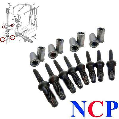 Set Of 8 Citroen C2 C3 C4 C5 C8 Synergie 1.6 Hdi Dv6 Injector Studs And Nuts
