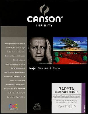 Canson Infinity Baryta Photographique 310gsm inkjet paper A4 25 sheets