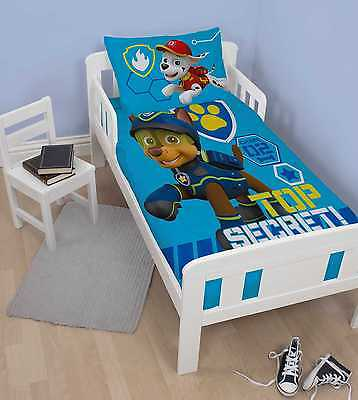 Paw Patrol Spy Duvet Quilt Cover Bedding Set For Junior Toddler Cot Bed Boys
