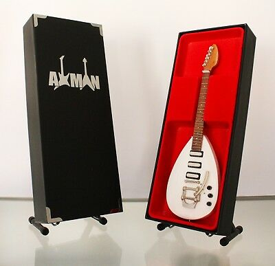 "Miniature Replica Guitar: Brian Jones Vox ""Teardrop"" By Axman (UK)"