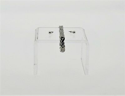 Clear Riser Acrylic Showcase Jewelry / Item Fixtures Display 3-1/4'' W x 2-1/4""