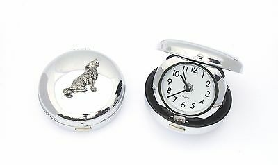Wolf Howling Style Portable Alarm Clock Quartz Ideal Wolf GIft
