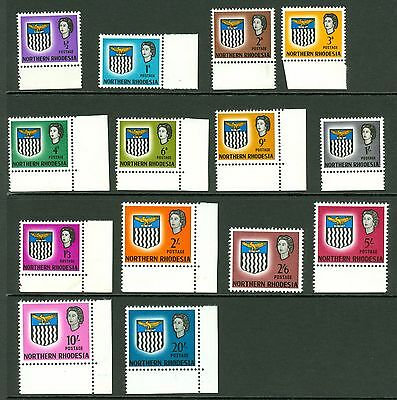 SG 75/78 Northern Rhodesia 1963 set. Unmounted mint. 1/- value is creased...