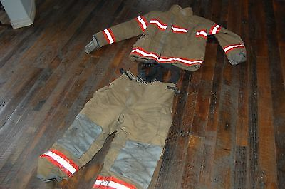 Firefighter Turnout Bunker Pants & Jacket Halloween Costume Protective w Liners