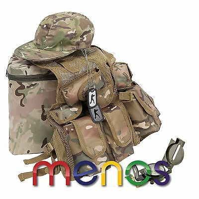 KAS Kids Army Junior Mission Set - Camouflage Den Kit - Army Roleplay