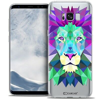 Coque Housse Etui Samsung Galaxy S8 (G950) Polygon Animal Souple Fin Lion