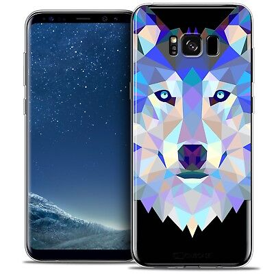 Coque Housse Etui Samsung Galaxy S8 (G950) Polygon Animal Souple Fin Loup
