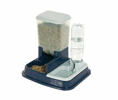 Pet Cat Dog Dry Food Water Dispenser 2 in 1 Automatic Feeder Station Feeder