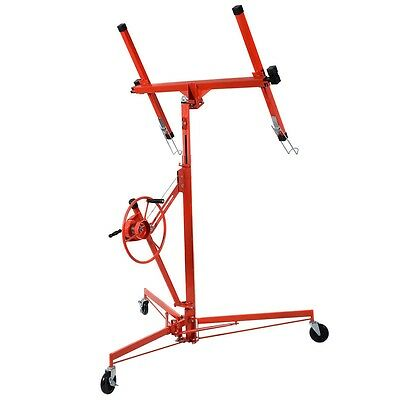 NEW 11' Drywall Lift Panel Hoist Dry Wall Jack Rolling Caster Lifter Lockable