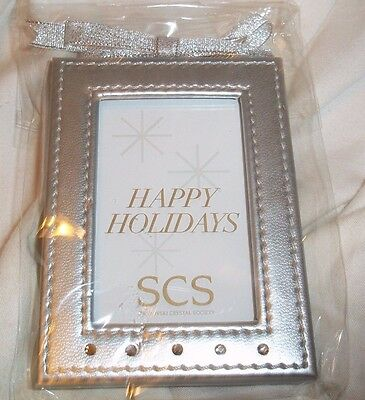 Swarovski 2010 Scs Loyalty Picture Frame Ornament Silver And Crystals Brand New