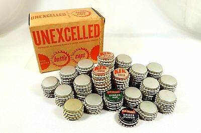 Vintage cork lined bottle caps Orange Crush LTD. Kik Cola, Old Colony Unexcelled