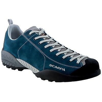 Scarpa Mojito 32605/350 Lake Blue Vibram Spyder Suede Climbing Hiking Shoes