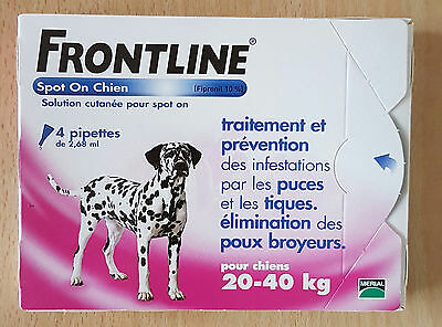 Frontline    Spot  On  Chien  L - 20 - 40 Kg - 4 Pipettes