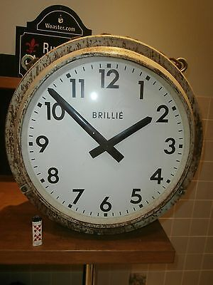 horloge brillié double face no jielde vintage