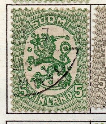 Finland 1917  Early Issue Fine Used 5p. 151604