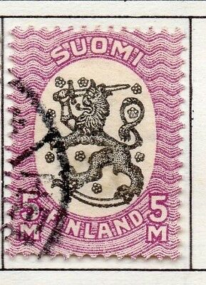 Finland 1917  Early Issue Fine Used 5M. 151641