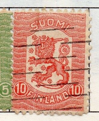 Finland 1918  Early Issue Fine Used 10p. Surcharged 151656