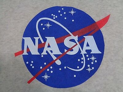Vtg NASA Space Center Logo Gray Thin Sweatshirt sz. M