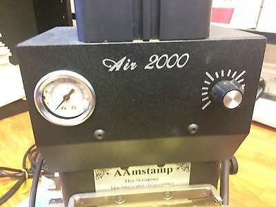"AAMStamp AIR-2000 Stamping Machine + compressor and extras ""read description"""