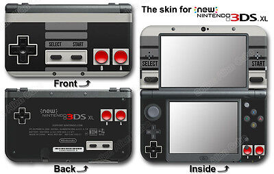 Retro NES Edition Nintendo Controller Skin Sticker Cover Decal #2 for NEW 3DS XL