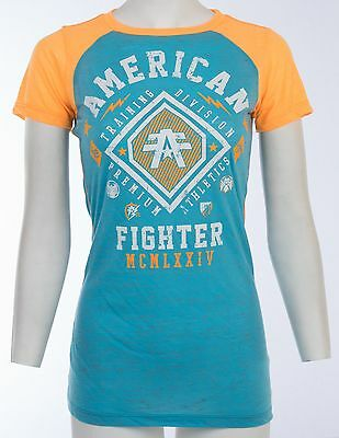 AMERICAN FIGHTER Womens T-Shirt KENDALL Athletic Biker UFC Sinful $40
