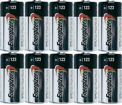 10 pc  ENERGIZER CR123 123 DL123 3v LITHIUM BATTERY CR123A CAMERA EXPIRE 12/2028