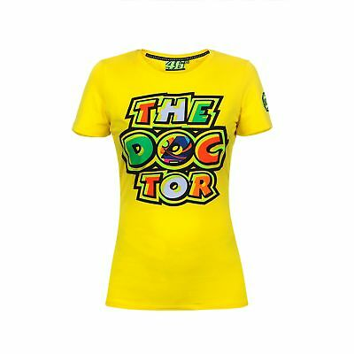 VR46 Valentino Rossi MotoGP Ladies 'The Doctor' Cotton T-Shirt TEE - Yellow