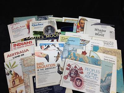 Lot of 30 NATIONAL GEOGRAPHIC MAPS and charts 1950s 1960s 1970s