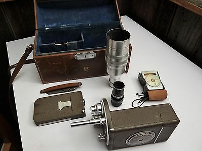 Vintage Bell & Howell Auto Master FILMO 16mm Movie Camera w/Accesories