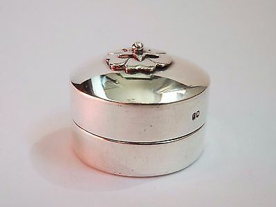 Scottish Sterling Silver Jacobite Rose Pill Box - Edinburgh 1992